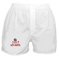 Kick w/ ninjas Boxer Shorts