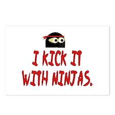 Kick w/ ninjas Postcards (Package of 8)