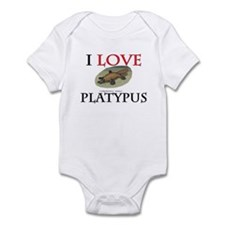 I Love Platypus Infant Bodysuit