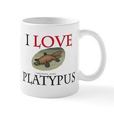 I Love Platypus Small Mug