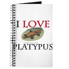 I Love Platypus Journal