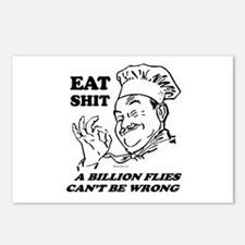 Eat Shit. Flies can't be wrong ~  Postcards (Packa