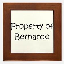 Funny Bernardo Framed Tile
