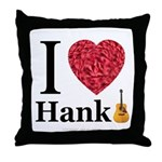 I Love Hank Throw Pillow