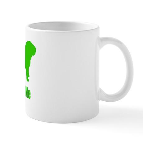Bite Me Bulldog Green Mug