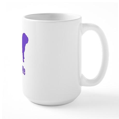 Bite Me Bulldog Purple Large Mug