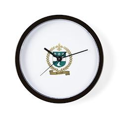 DOUARON Family Crest Wall Clock