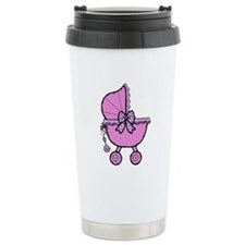 Girl baby buggy Travel Coffee Mug