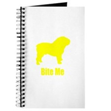 Bite Me Bulldog Yellow Journal