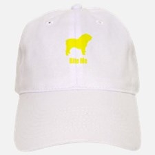 Bite Me Bulldog Yellow Baseball Baseball Cap