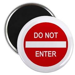 "Do Not Enter Sign 2.25"" Magnet (100 pack)"