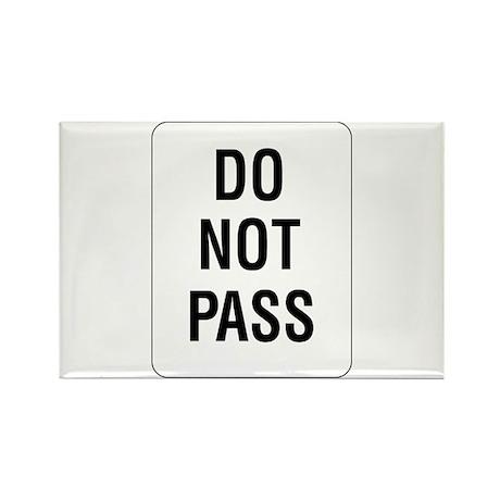 Do Not Pass sign - Rectangle Magnet