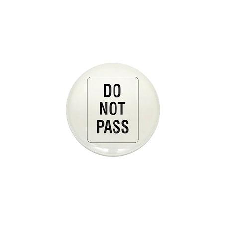 Do Not Pass sign - Mini Button (100 pack)