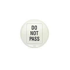 Do Not Pass sign - Mini Button (10 pack)