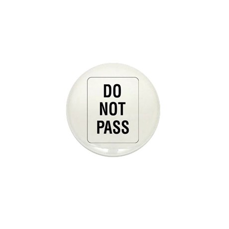 do not pass sign mini button by simplesignshop