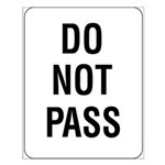 Do Not Pass sign - Small Poster