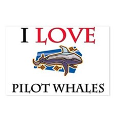 I Love Pilot Whales Postcards (Package of 8)