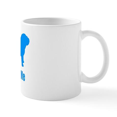 Bite ME Bulldog Lt Blue Mug