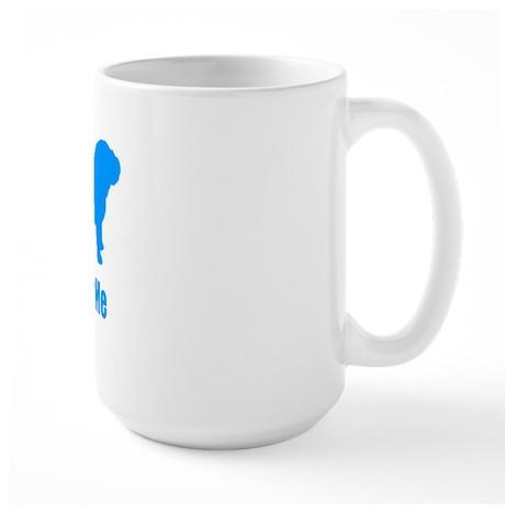Bite ME Bulldog Lt Blue Large Mug