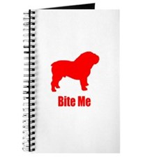 Bite Me Bulldog Lt Red Journal