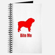 Bite Me Bulldog Lt Red Journal