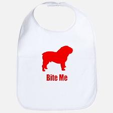Bite Me Bulldog Lt Red Bib