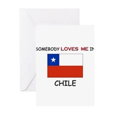 Somebody Loves Me In CHILE Greeting Card