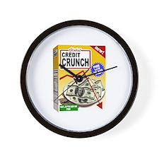 Credit Crunch Wall Clock