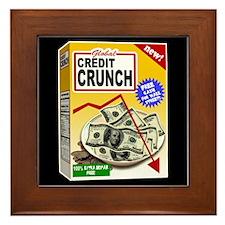 Credit Crunch Framed Tile