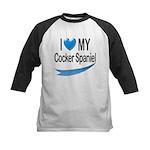 Cocker Spaniel Kids Baseball Jersey