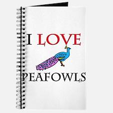 I Love Peafowls Journal
