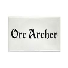 Orc Archer Rectangle Magnet