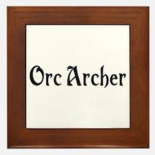 Orc Archer Framed Tile