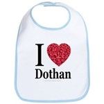 I Love Dothan Bib