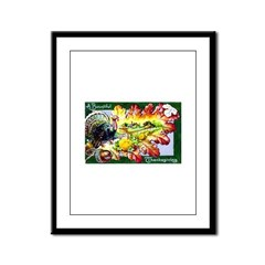A Bountiful Thanksgiving Framed Panel Print