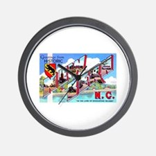 New Bern North Carolina Wall Clock