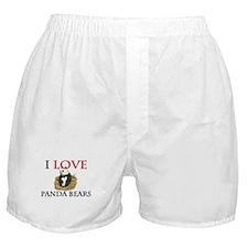 I Love Panda Bears Boxer Shorts