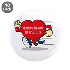 """Mother-In-Law In Training 3.5"""" Button (10 pac"""