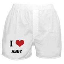 I Love Abby Boxer Shorts