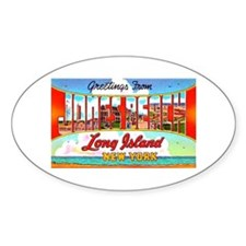 Jones Beach Long Island Oval Decal