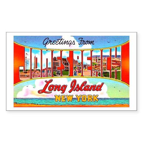 Jones Beach Long Island Rectangle Sticker