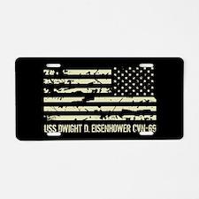 USS Dwight D. Eisenhower Aluminum License Plate