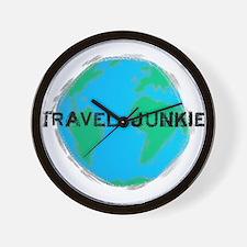 Travel Junkie Wall Clock