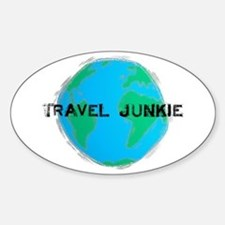 Travel Junkie Oval Decal