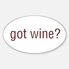 Got Wine Oval Decal
