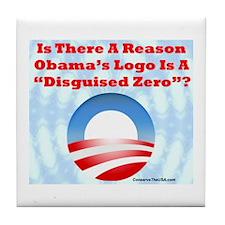 """Disguised Zero"" Tile Coaster"