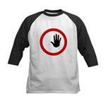Restricted Access Sign Kids Baseball Jersey