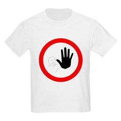 Restricted Access Sign Kids T-Shirt