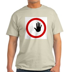 Restricted Access Sign Ash Grey T-Shirt