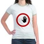 Restricted Access Sign Jr. Ringer T-Shirt
